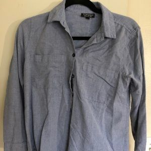 Topshop blue button up